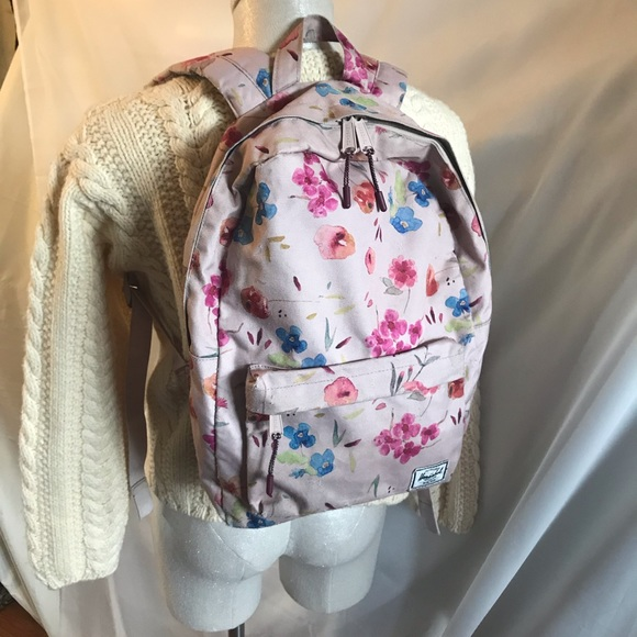 3a8fd543884b Herschel Supply Company Handbags - Herschel Supply Floral Ruby Khaki Classic  Backpack